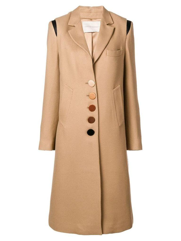 Marco De Vincenzo corduroy buttoned coat - Neutrals