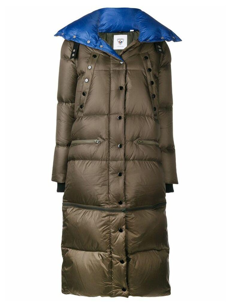 Rossignol snap fastening padded coat - Green