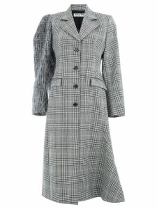 Aalto checked single-breasted coat - Black