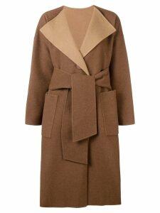 Issey Miyake wrap coat - Brown