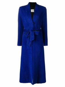 Forte Forte long loose coat - Blue