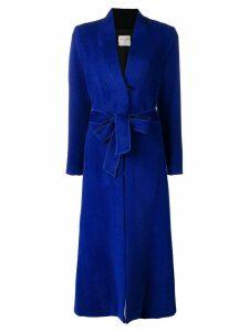 Forte Forte long loose coat - Blue