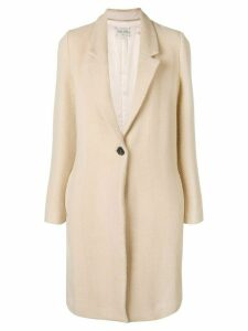 Forte Forte single breasted coat - Neutrals