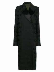 Haider Ackermann embroidered floral coat - Black