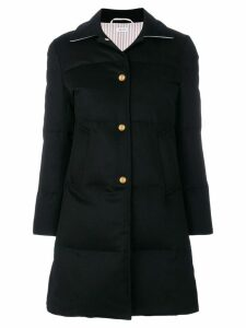 Thom Browne Down-filled Jacket-weight Cashmere Overcoat - Blue