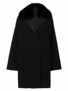 Guy Laroche fur trim coat - Black