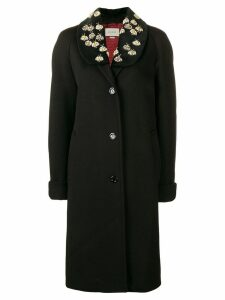 Gucci embellished coat - Black