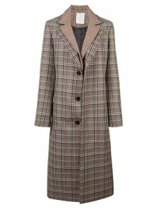 Monse plaid single breasted coat - Multicolour
