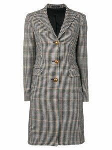 Tagliatore checked single breasted coat - Black