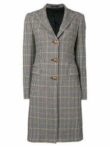 Tagliatore checked single breasted coat - Black