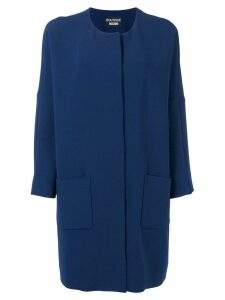 Boutique Moschino loose-fit coat - Blue