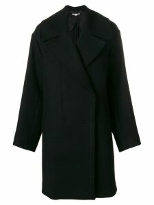 Stella McCartney single breasted cocoon coat - Black