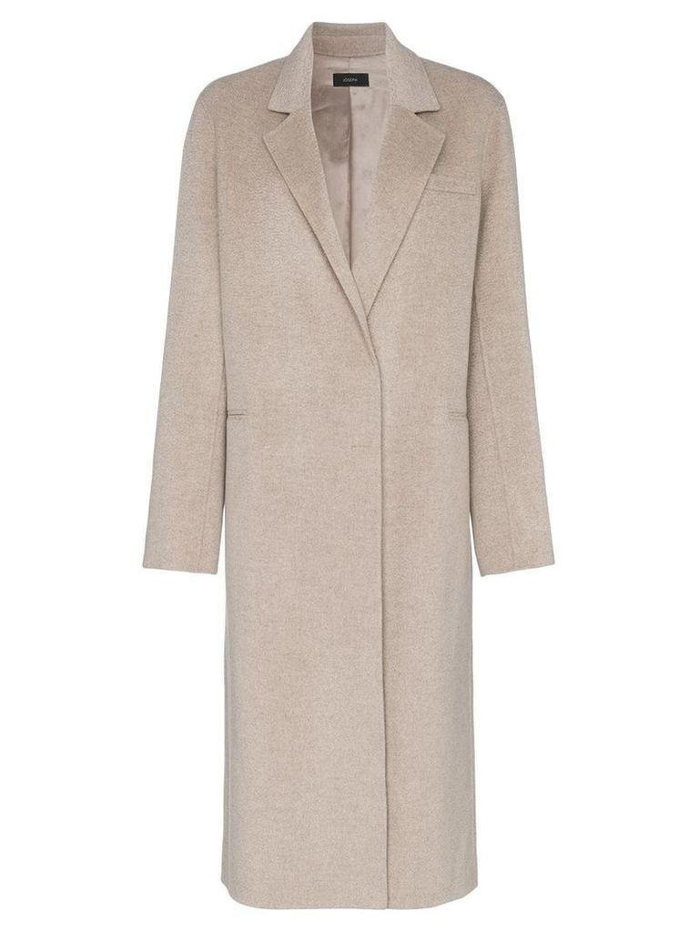 Joseph Signe oversized cashmere coat - Neutrals