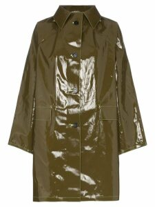 Kassl single-breasted vinyl coat - Green