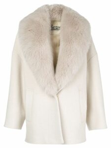 Herno fur-collared coat - Neutrals