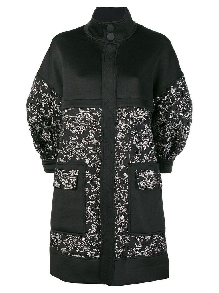 Three Floor Sketch coat - Black