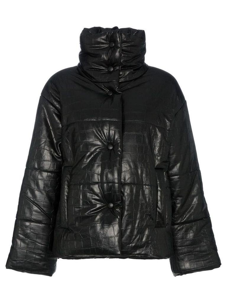 Nanushka Hide Vegan Leather Puffer Coat - Black