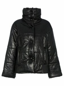 Nanushka Hide Vegan Leather Puffer Coat - Black