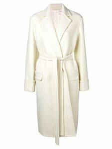 Helmut Lang belted coat - White