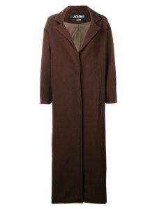 Jacquemus single-breasted maxi coat - Brown