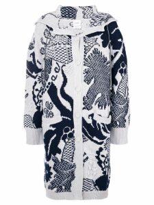 Barrie Stencil Garden cashmere coat - Grey