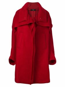 Y's oversized single breasted coat - Red