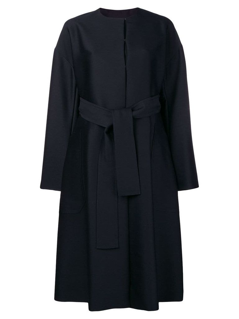 Cyclas oversized belted coat - Blue