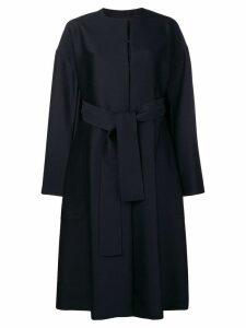 Cyclas oversized belted coat - Blue