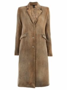 Avant Toi classic single-breasted coat - Brown