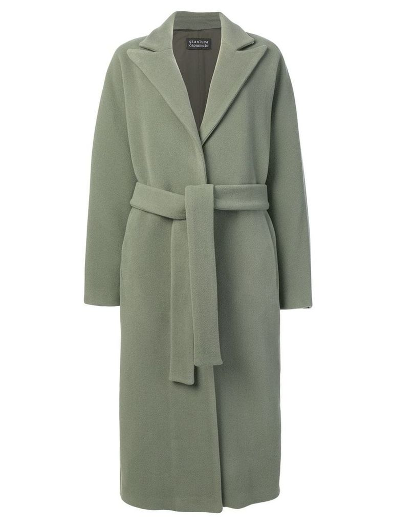 Gianluca Capannolo belted single-breasted coat - Green