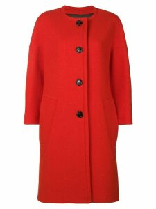 Marni round neck coat - Red