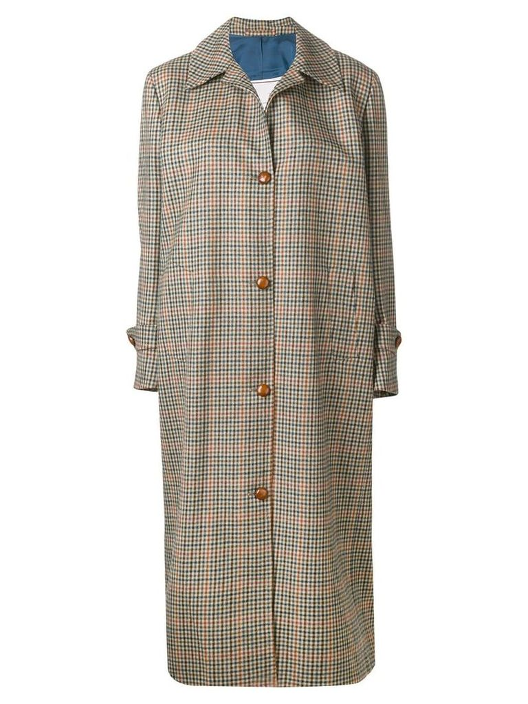 Giuliva Heritage Collection checked button coat - Neutrals