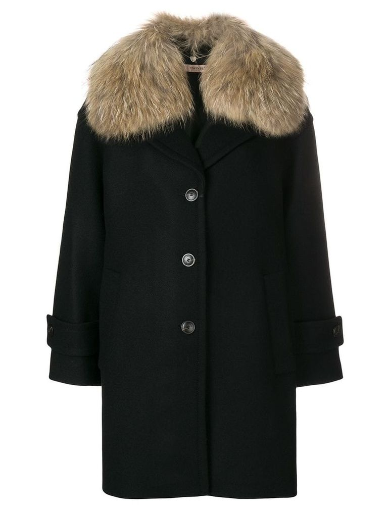 Twin-Set single breasted coat - Black