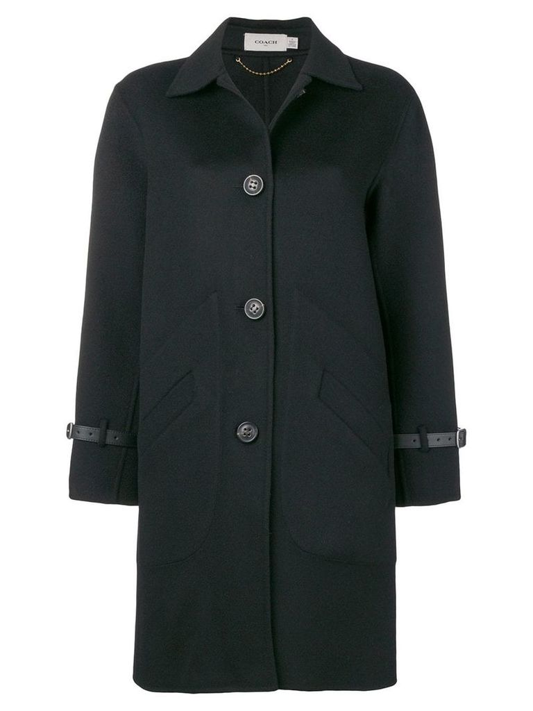 Coach single breasted coat - Black