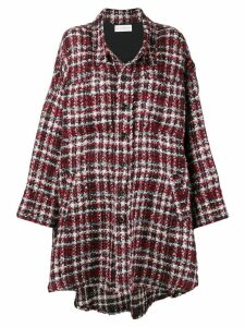 Faith Connexion irregular hem tweed coat - Red