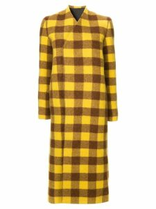 Rick Owens plaid coat - Yellow