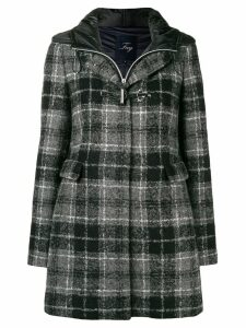 Fay tartan pattern coat - Grey