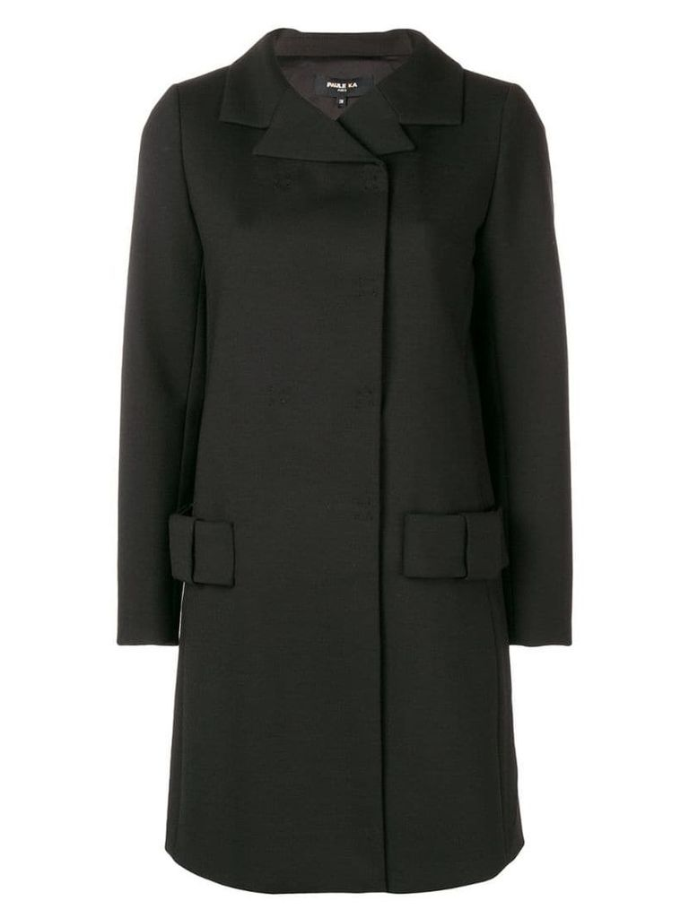 Paule Ka bow pocket coat - Black