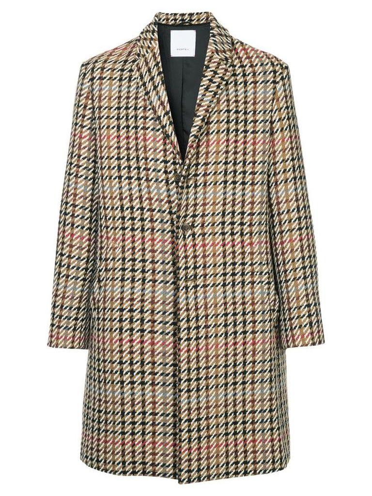 Ports V single breasted coat - Multicolour