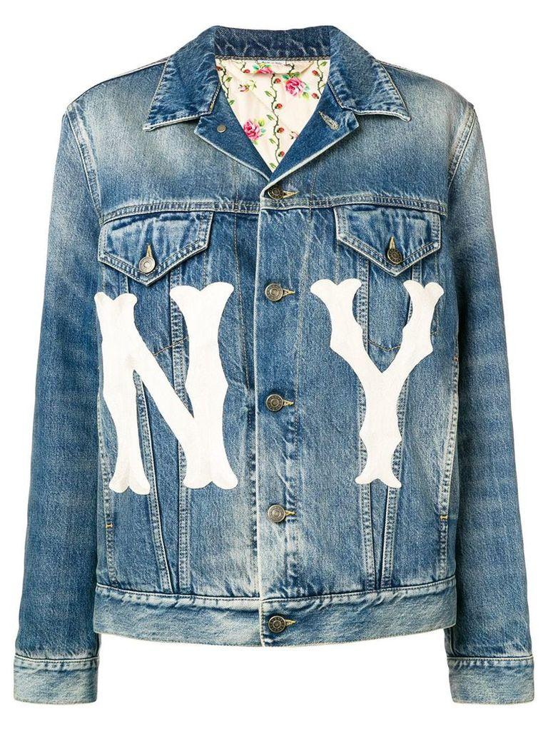 Gucci printed loose jacket - Blue