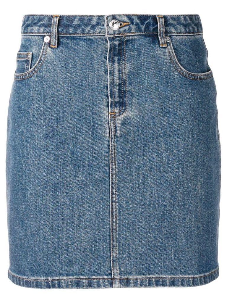 A.P.C. denim skirt - Blue