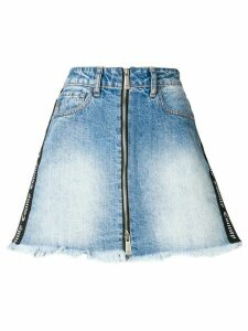 Marcelo Burlon County Of Milan Short denim skirt - Blue