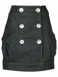 Manning Cartell high waisted denim mini skirt - Blue