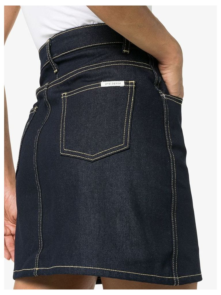 Eve Denim Tallulah high waisted cotton skirt - Blue