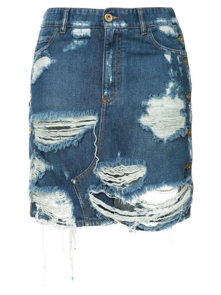 Faith Connexion distressed denim skirt - Blue