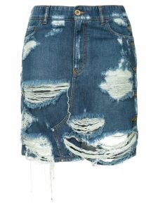 Faith Connexion distressed denim skirt - Blue