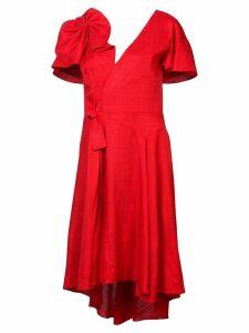Delpozo bow-embellished dress - Red