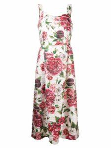 Dolce & Gabbana peony print dress - White