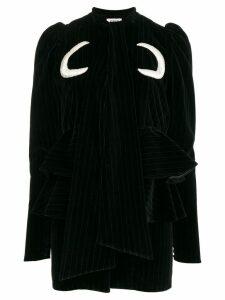 Attico Luna cotton-velvet mini-dress - Black