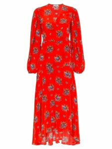 Ganni Kochhar Floral Maxi-Dress - Red